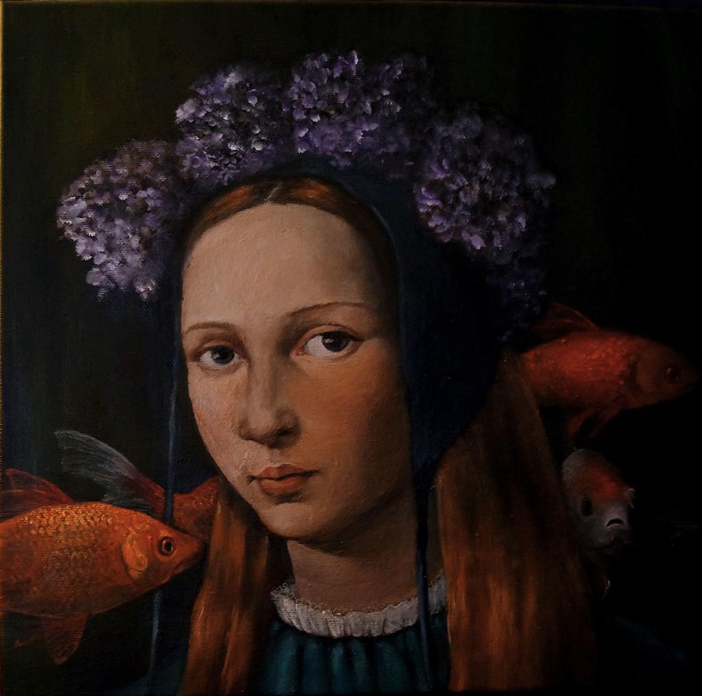 Julia Murakami, Allegory of Obliviousness, 2012, 30 x 30 cm, oil on canvas