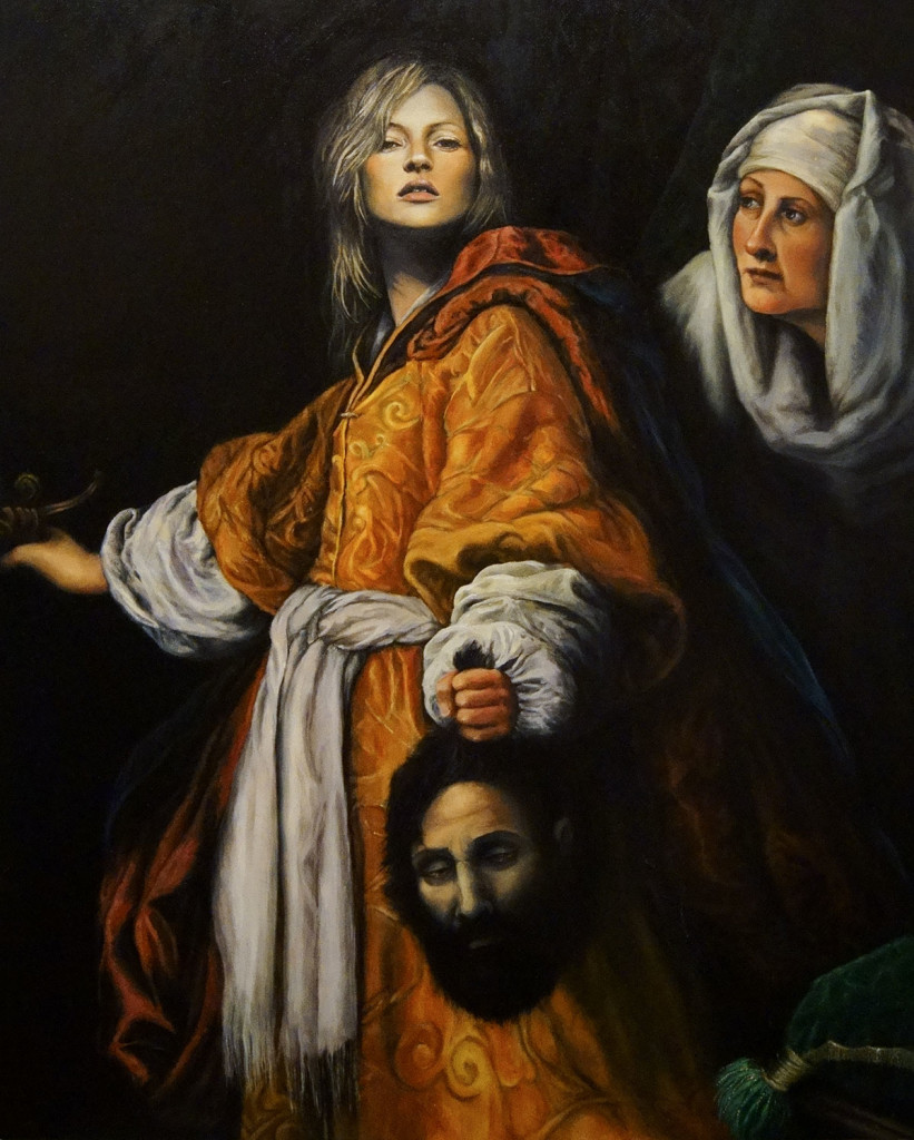 "Julia Murakami ""Kate beheading Holofernes"", 2010 Adaptation of Cristofano Allori's ""Giuditta con la testa di Oloferne"", oil on canvas, 80 x 100 cm"
