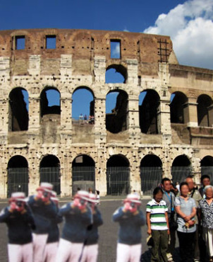 Colosseum in Rome | Japanese Guerilla Paparazzi World Tour