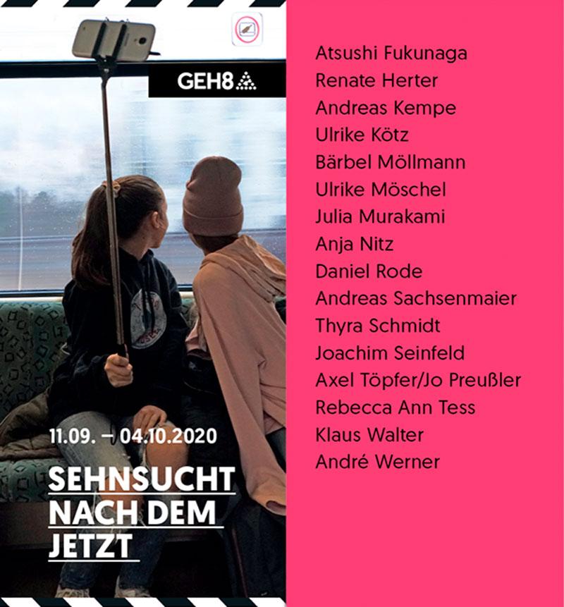 """""""Sehnsucht nach dem Jetzt"""", 11. September – 4. Oktober 2020 GEH8 – Kunst Raum Ateliers"""